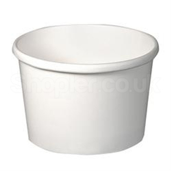 Solo White [H4085] Paper Soup Container - SHOPLER