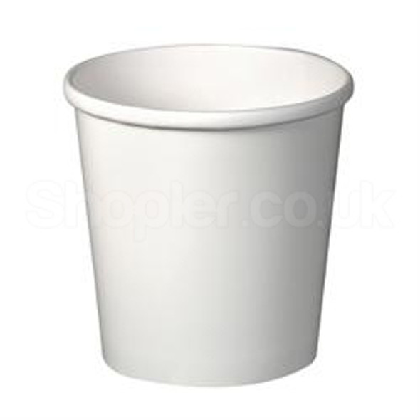 Solo White [H4125] Paper Soup Container - SHOPLER