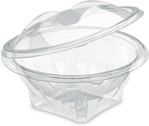 450 x Clear Disposable Plastic Salad Bowl - 13oz (370cc)