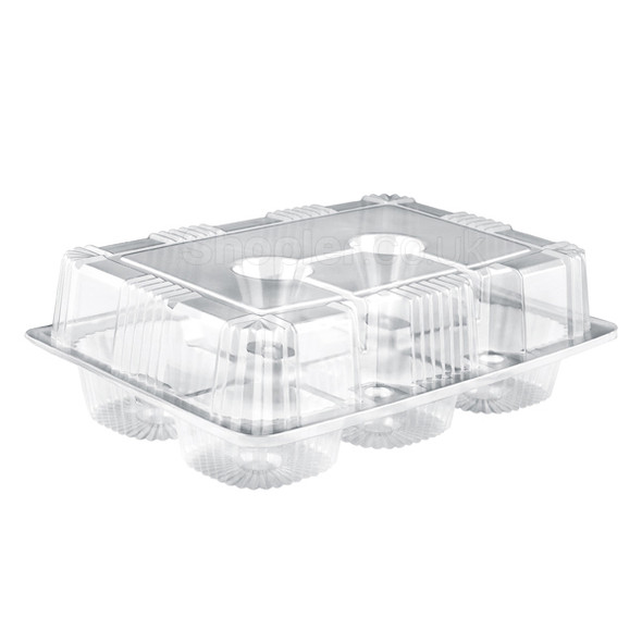 Somoplast 724 Hinged Clear Muffin Container - SHOPLER.CO.UK