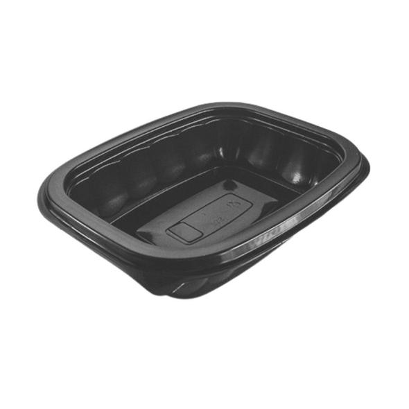 Somoplast [738] Black Microwave Container 8oz, 250 - SHOPLER