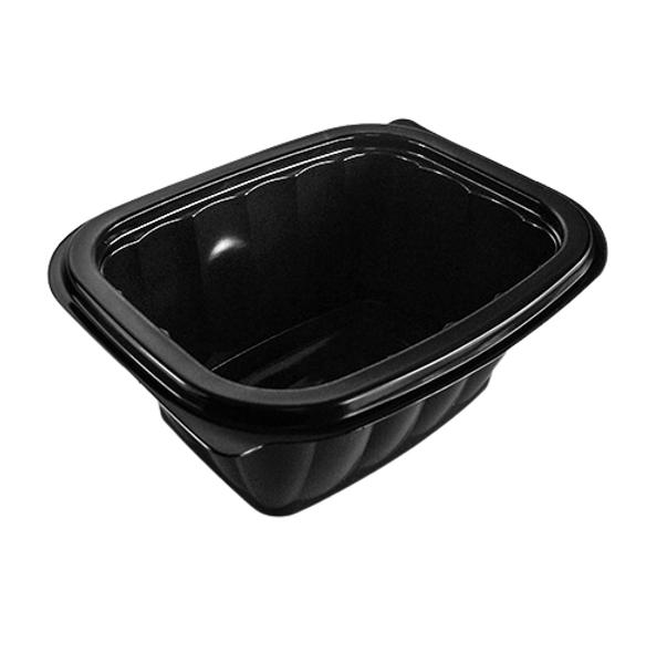 Somoplast [740] Black Microwave Container 450cc - SHOPLER