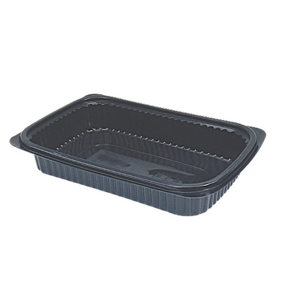 Black Microwavable Container 1000cc - SHOPLER