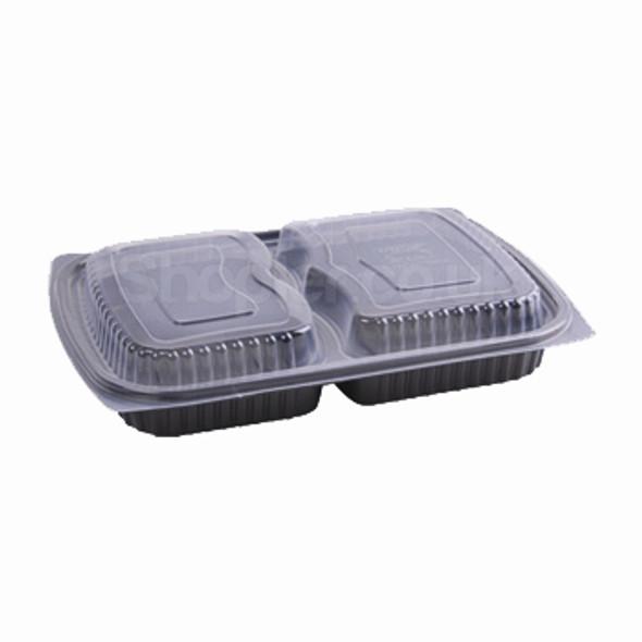 Somoplast 825 Black 2comp Microwavable Container - SHOPLER