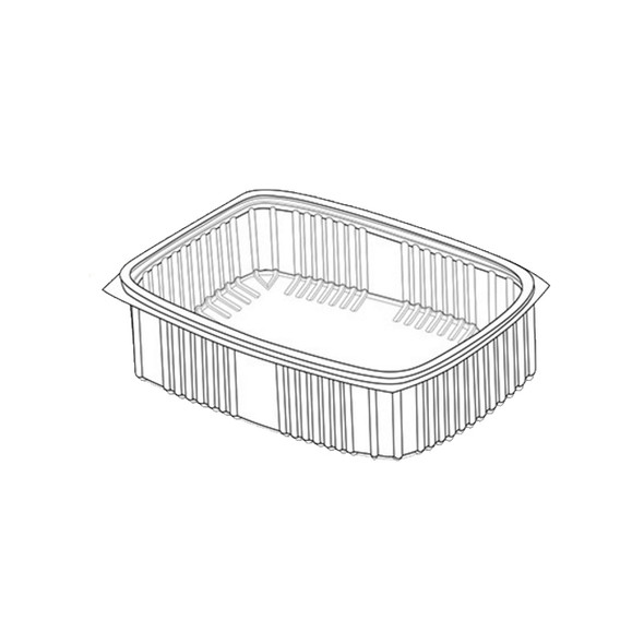 Clear Rectangle Container 2000cc - SHOPLER