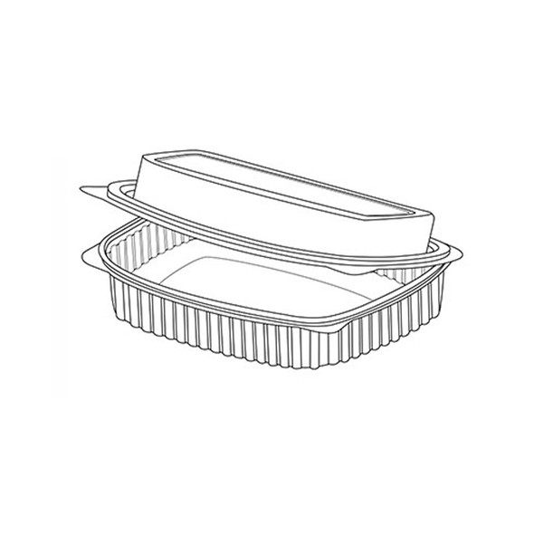 Somoplast 916 Clear Hinged Rectangle Container Dome - SHOPLER