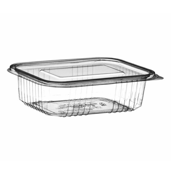 Somoplast 916 Clear Hinged Rectangle Container Flat - SHOPLER