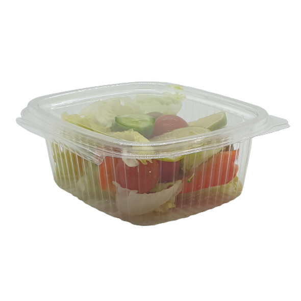Somoplast [917] Clear Hinged Rect. Container 450cc - SHOPLER.CO.UK