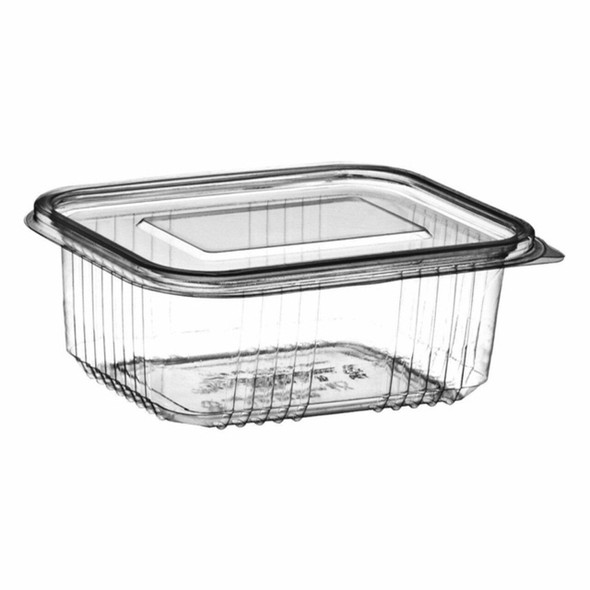 Clear Hinged Rectangle Container Deep - 20oz (600cc) - SHOPLER.CO.UK
