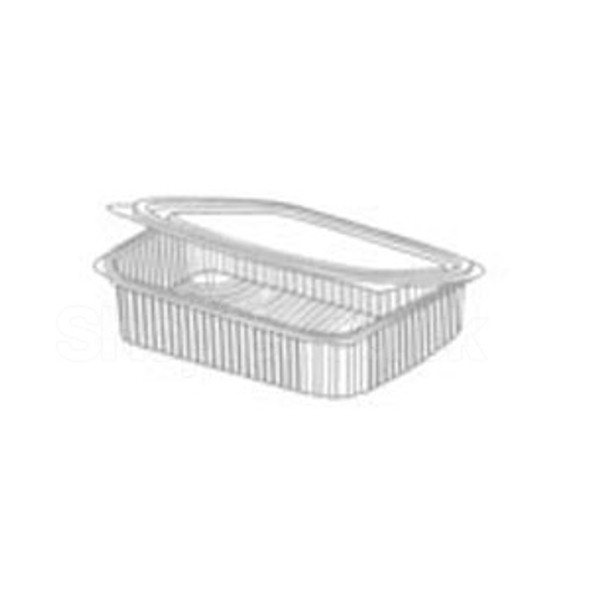 Somoplast [960] Clear Hinged Rect. Container 600cc - SHOPLER
