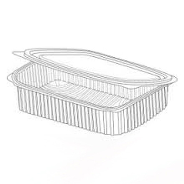 Somoplast [961] Clear Hinged Rect. Container [750c - SHOPLER