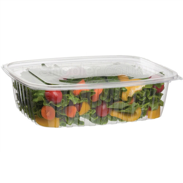 Somoplast [962] Clear Hinged Rect. Container [1000 - SHOPLER.CO.UK