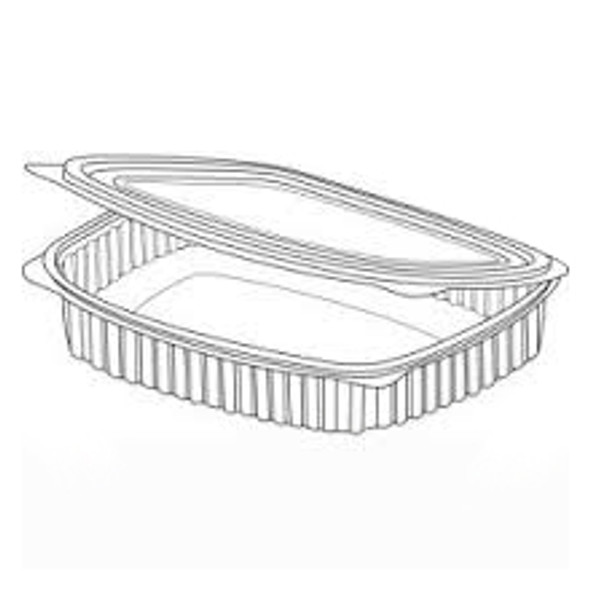 Somoplast 968 Clear Hinged Rect. Container 1100 cc - SHOPLER