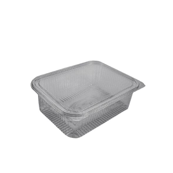 Clear Hinged Rectangular Container 1500cc - SHOPLER