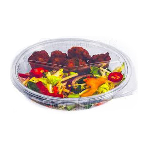 Somoplast [972] 2 Compartment 575 cc Oval Clear H - SHOPLER