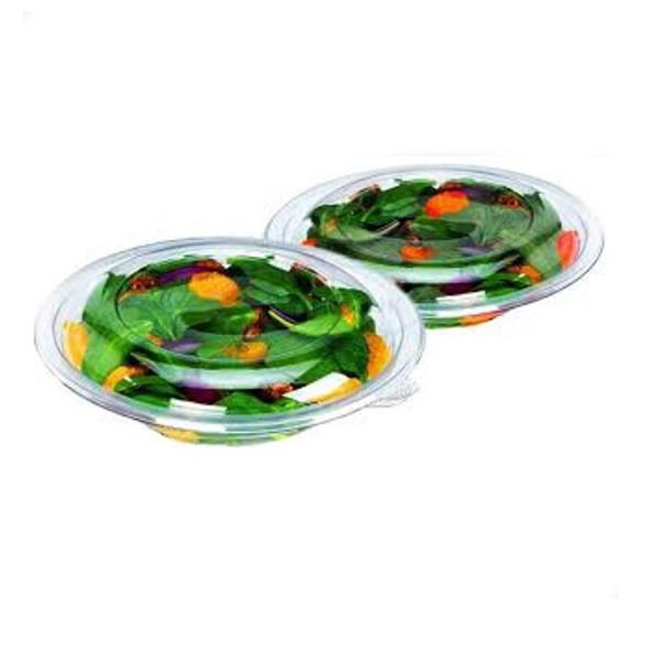 Somoplast [989] Round Clear Salad Bowl [24oz] - SHOPLER