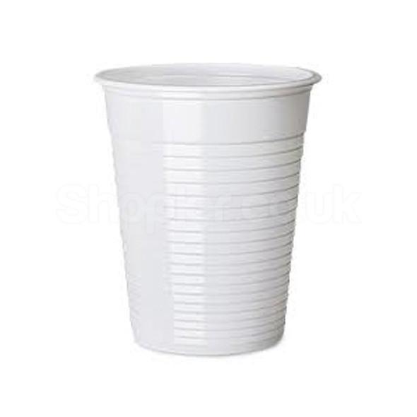 Somoplast [HoLiday] Plastic White Water Cups [7oz] - SHOPLER.CO.UK