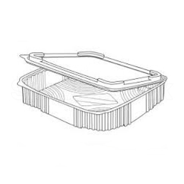 Somoplast 710 Clear Hinged Square Container - SHOPLER