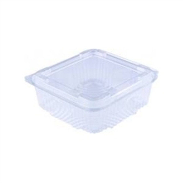 Somoplast 735 Clear Three Compartment Hinged Small Rectangle Container