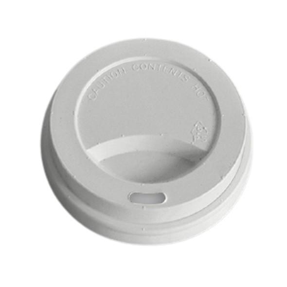 Hot Plastic Lid White Domed  - SHOPLER.CO.UK