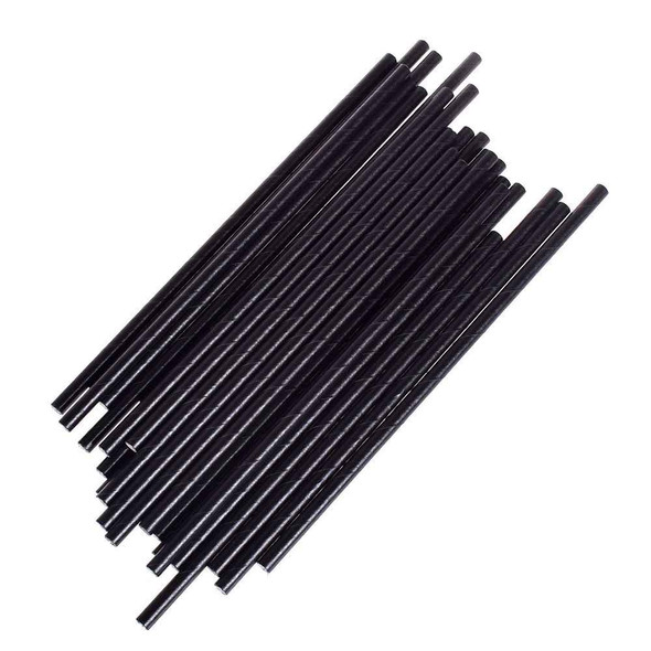 Black Straight Paper Straw - SHOPLER