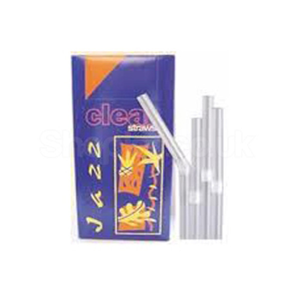 Straw Clear [398BOXCL] Bendy [200x6mm] - SHOPLER
