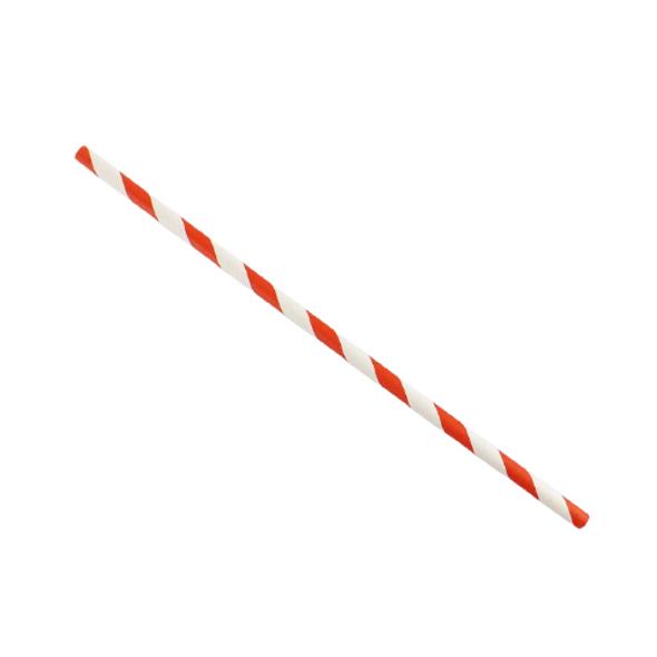 Red & White Stripe Paper Straws - SHOPLER