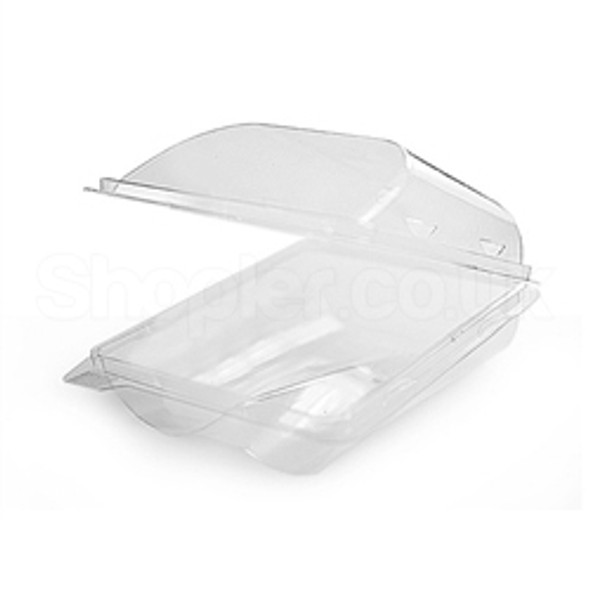 Tortilla Wrap Hinged Plastic Container [RB0250] - SHOPLER.CO.UK