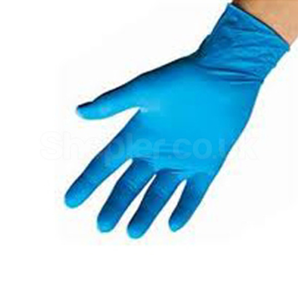 Vinyl Gloves [Medium] Blue Powdered a pack of 100 - SHOPLER