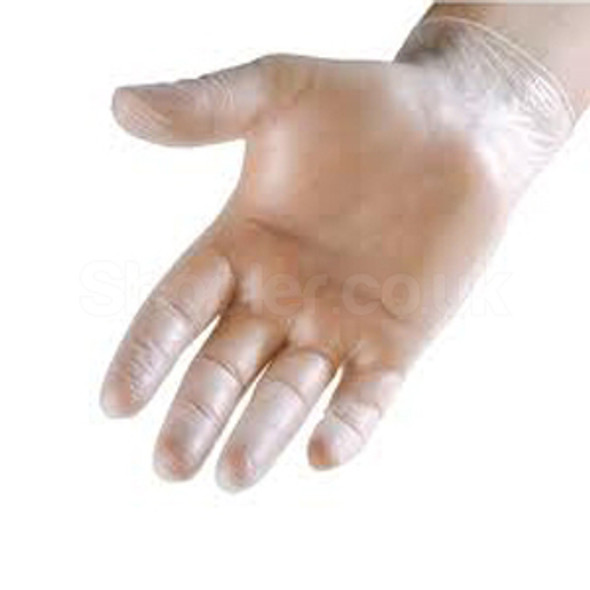 Vinyl Gloves [Medium] Clear Powdered - SHOPLER.CO.UK