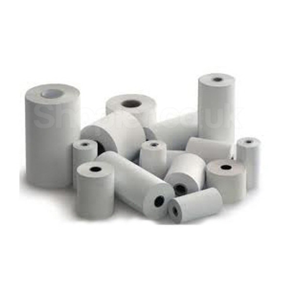 Visa Roll [57x55mm] 2ply Action Paper White Yellow - SHOPLER