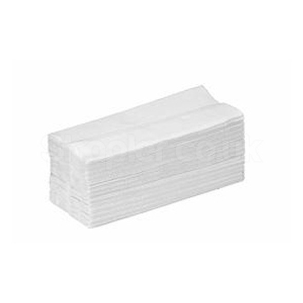 White C-fold Hand Towel 2ply [21x33cm] - SHOPLER.CO.UK