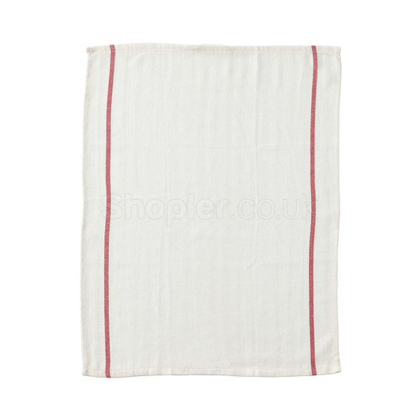 White Dishcloth 30x40cm a pack of 10 - SHOPLER