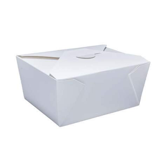 No.8 White Leakproof Container - 46oz [172x134x65mm] - SHOPLER
