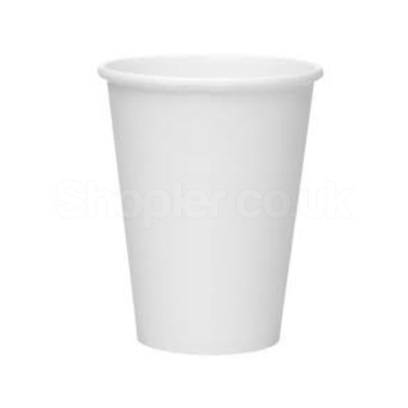 White Paper Cup Hot [4oz] 120ml - SHOPLER.CO.UK