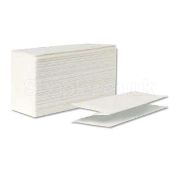 White Z-fold Hand Towel 2ply [24x24cm] a pack of - SHOPLER.CO.UK