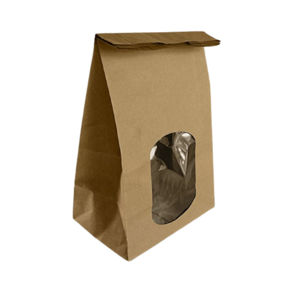 Brown Kraft Window Bag - SHOPLER.CO.UK