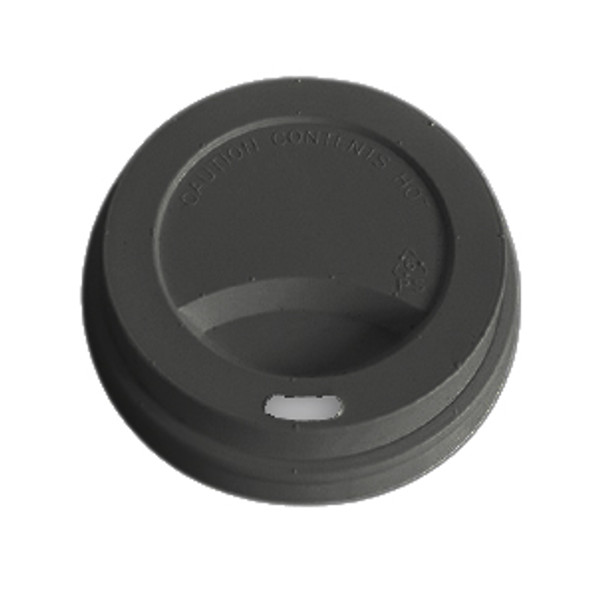 Black Recyclable Plastic Lid For Hot Drinks  - SHOPLER.CO.UK