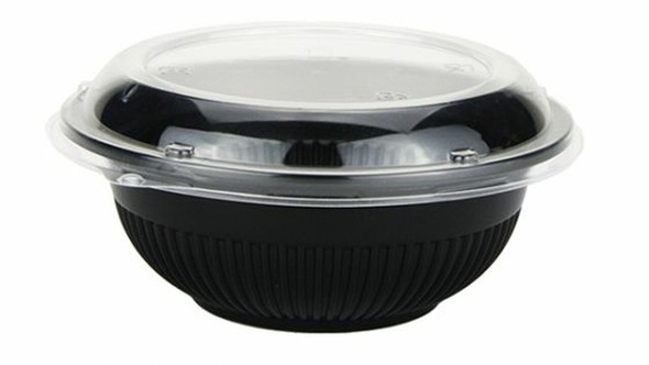 Donburi Bowls with Lids - Large Black QA33 - SHOPLER