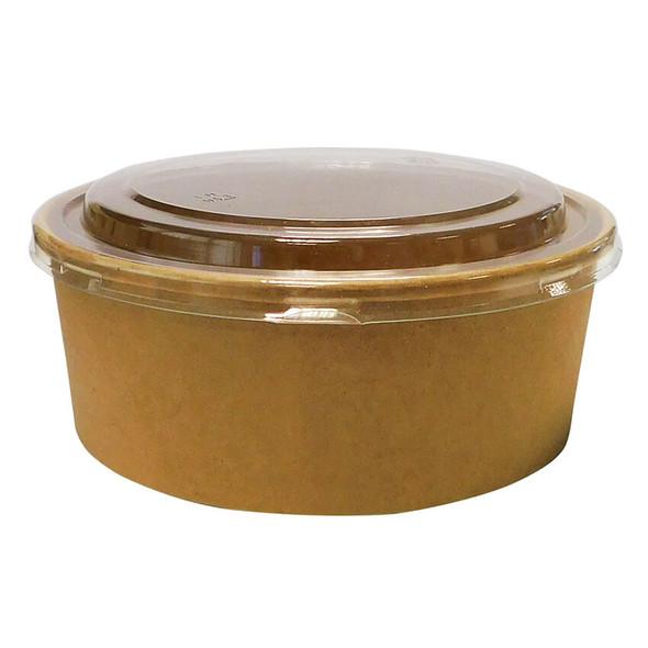 Round Kraft Paper Deli Bowl - 1000cc - SHOPLER.CO.UK