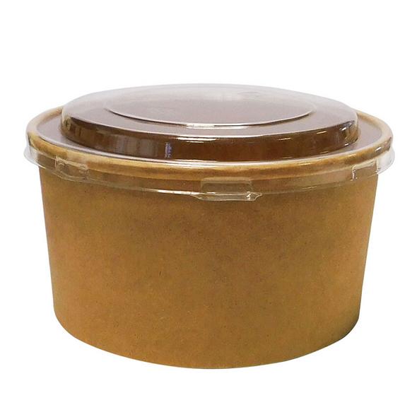 Round Kraft Paper Deli Bowl - 1300cc - SHOPLER