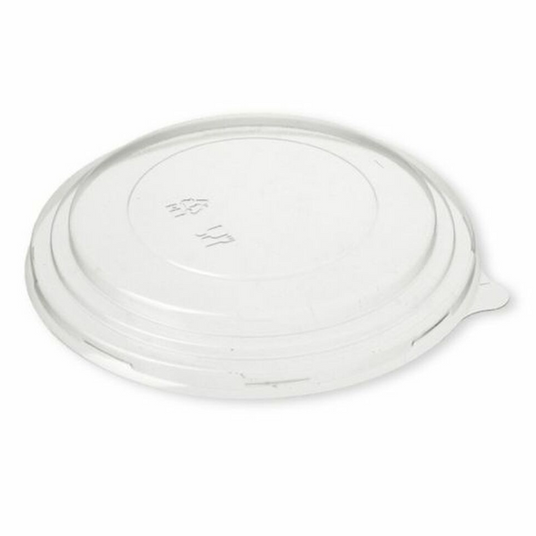 300 x PET Lid Go-Pak Round Kraft Paper Deli Bowl  - 46oz (1300cc) - SHOPLER