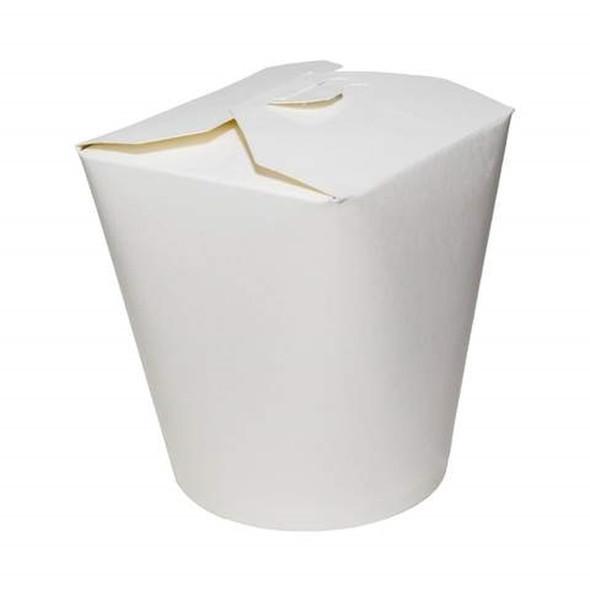 Noodle Box White Leak Proof Biodegradable 26oz(750cc) - SHOPLER