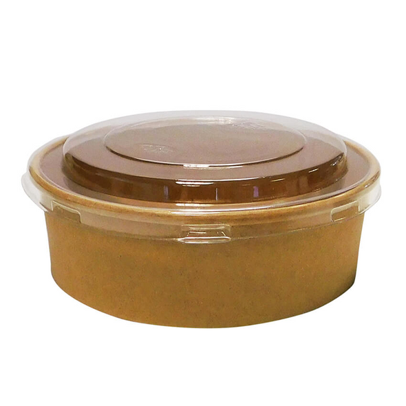 Round Kraft Paper Deli Bowl - 500cc - SHOPLER