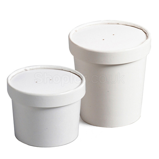 Go Pack Paper Soup Container & Lid Combo [8oz] - SHOPLER.CO.UK