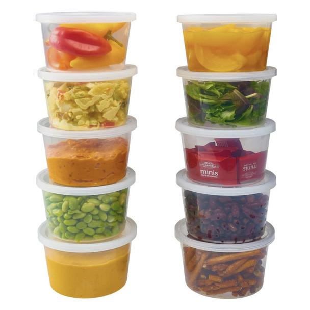 Satco Round Plastic Deli Pots Containers - SHOPLER