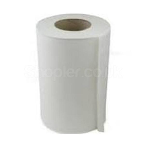 White Mini C-feed Hand Towel 2ply [65m] - SHOPLER.CO.UK