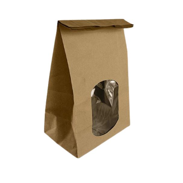 Brown Kraft Window Bag - SHOPLER.CO.UK
