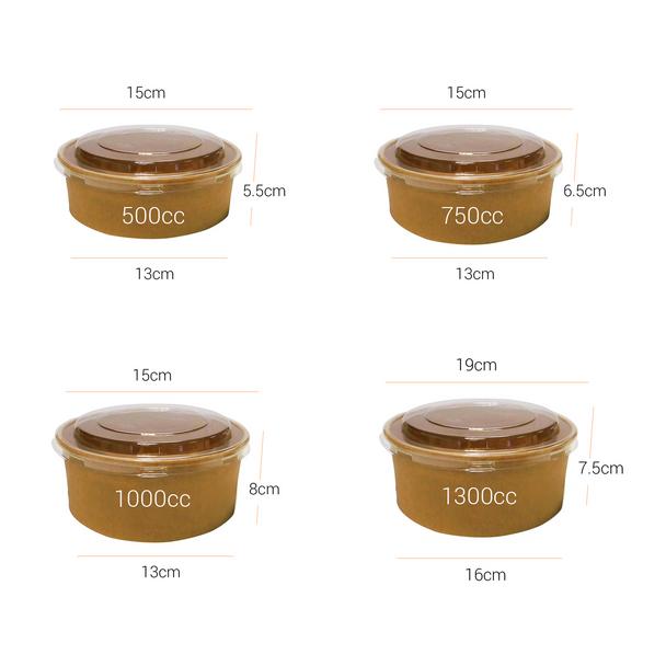 Go-Pak Round Kraft Paper Deli Bowl Dimensions - SHOPLER