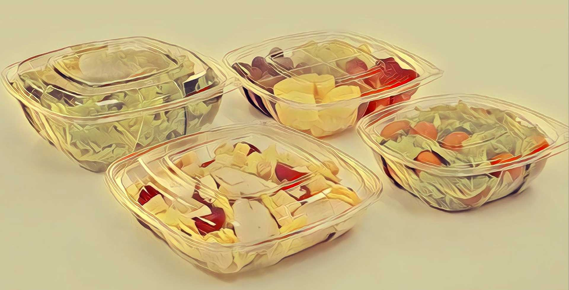 B2B Wholesale prices on quality salad Bowls, salad containers,  sandwich wedges, plastic containers